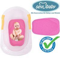Baby Badeschwamm Sevibaby Sitzschwamm ROSA Badeunterlage Für Babys ab der Geburt 159-2