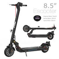 Elektroscooter E-Scooter (ABE) mit Straßenzulassung (eKFV)  Klappbar Erwachsene E Roller Mit Vorderen und Hinteren Rückleuchten City Roller  mit abnehmbarem Sitz-mit |LCD-Bildschirm-|7,5 A Li-Ion Akku-| Bluetooth-APP