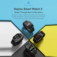 NEUE globale Version Haylou LS02 Smartwatch IP68 Wasserdicht 12 Sportmodi Anruferinnerung Bluetooth 5.0 Smartband Smartwatches Smartwatch LCD-Bildschirm Armbanduhr Herzfrequenz Fitnessband
