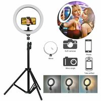 LED-Ringlicht mit Stand & Halter dimmbare Beleuchtung Kit für Make-up Youtube