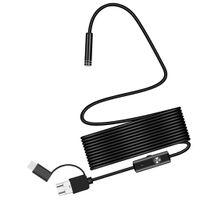MagiDeal 3in1 7mm 6LED Micro USB Inspektionskamera Rohr Sonde IP67 1 / 3,5 / 5m Schwarz