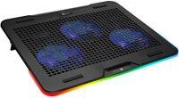 Laptop-Kühler , RGB-Beleuchtung , Gaming-Laptop-Halter , USB-Lüfter , Stabil und robust