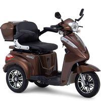 Seniorenmobil Dreiradscooter S1000 braun metallic Elektro-Mobil mit Straßenzulassung