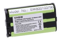 vhbw Ni-MH Akku 850mAh (3.6V) passend für schnurlos Festnetz Telefon Panasonic KX-TW201, KX-TW211