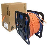 Duplex CAT.7 Netzwerkkabel Verlegekabel Gigabit S/FTP 10Gbit 1000Mhz CAT7 Installationskabel PIMF Kabel Netzwerk Verkabelung LAN Twin Datenkabel 4x2xAWG23 orange 10/100/1'000/10'000 Mbit