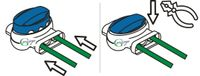 Genisys Kabel-Verbinder kompatibel mit LANDROID von WORX Draht Reparatur Verbindungsklemmen Mähroboter - wasserdicht - Original 3M Scotchlok, Inhalt:5x314