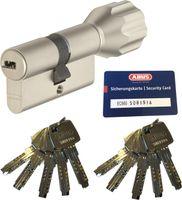 ABUS EC660 Knaufzylinder Länge Z30/K30mm (c=60mm) mit Sicherungskarte und 10 Schlüssel, SKG** Bohrschutz