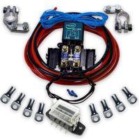 RL180/12 Trennrelais Anschlussset inkl. Sicherungen/Halter, Anschlussverbinder, 6m Kabel 10mm² & Sicherungshalter 4fach
