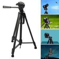 140cm Stativ Kamerastativ Kamera Dreibein Stativ Aluminium mit Tasche Universal Standhalter Halterung 360° Kamerastativ Kugelhalterung