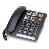 Switel TF540 schnurgebundenes Grosstastentelefon mit 6 kurzwahl Fototasten, extra laut Komfort Telefon
