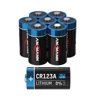8x ANSMANN CR123A Lithium Batterie 3V - Hochleistungsbatterie (8 Stück)