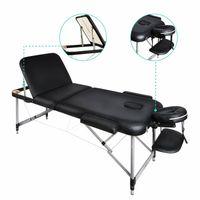 NAIPO mobile Massageliege Massagebank Massagetisch Deluxe 3Zonen klappbar 14.3kg