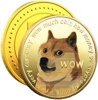 5x Dogecoin Coins(Gold) Commemorative 2021 Neue, vergoldete Doge-Münzen in limitierter Auflage, virtuelle Hobby-Münzen zum Sammeln von Dogecoins