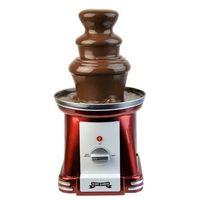 Gadgy ® 3-stufiger Schokobrunnen 90 Watt | 31,5 cm Hoch mit Turm aus Rostfreiem Stahl | 750 Gramm Kapazität | Retro-Look | Toll für Kindergeburtstage und Hochzeiten