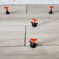 50pcs / Set Stufe Wedges Tile Verbreiterungen Boden Wand Tile Locator Verbreiterungen Plier -(als Bild zeigen,)