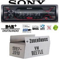 Autoradio Radio Sony DSX-A310DAB - DAB+ | MP3/USB - Einbauzubehör - Einbauset für VW Beetle 1 9C - JUST SOUND best choice for caraudio