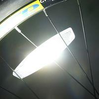 Anmerkung 4 eine weiße Tasche Fahrradspeiche Radsatzes Folie Mountainbike Radsatzes Folie Warnlicht reflektierende Platte