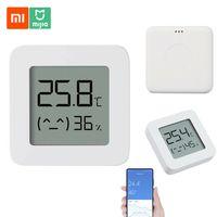 Xiaomi BT Thermometer 2 Wireless Smart Electric Digital Hygrometer Feuchtigkeitssensor Arbeit mit Mijia APP【Weiß】