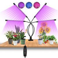 TolleTour LED Pflanzenlampe 4 Kopf Pflanzenleuchte Pflanzen Vollspektrum Grow Lampe Full Spectrum Wachsen Licht 40W