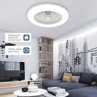 36W Intelligent Deckenleuchte Deckenventilator mit Beleuchtung Fernbedienung LED-Leuchte (Grau)