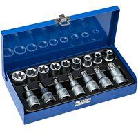 tectake Torx Steckschlüsselsatz 17-tlg. - blau