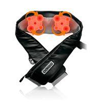 RestArt uBlack manuellles Massagerät – Shiatsu-Massagegürtel - Nacken Rücken Schulter Beine, 3D-Knetmassage mit Wärme, Tiefgewebe für Schmerzlinderung