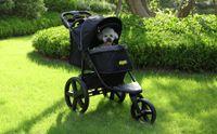 Hundebuggy, Hundewagen, 3 Rad-Buggy für Hunde und Katzen, Pet Stroller, Luxus Hundewagen & Haustier Buggy, Hundebuggys mit 40 cm große Räder