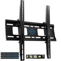 "deleyCON Universal TV Wandhalterung - 32"" - 65"" Zoll (81-165cm) - Neigbar -10°/+5° - Belastbar bis 75Kg - bis VESA 400x400mm - Wandabstand 56mm - TV LCD LED OLED"