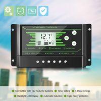 Multi-Schutz Portable Solar Controller 12V / 24V Doppel-USB-Schnittstelle PWM Strassenlaterne Intelligente Laderegler