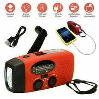 Miixia HOT Notfall Solar Hand Kurbel AM FM Wetter Radio LED Licht USB Ladegerät Outdoor