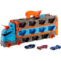Hot Wheels 2-in-1 Rennbahn-Transporter inkl. 3 Spielzeugautos