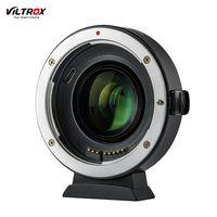 Viltrox EF-EOS M2 Autofokus-Objektivhalterungsadapterring 0.71X Fokal Lenth Multiplier USB-Upgrade für Canon EF-Serie auf EOS EF-M-Kamera ohne Spiegel für Canon EOS M / M2 / M3 / M5 / M6 / M10 / M50 / M100
