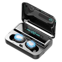 F9 Wireless Bluetooth 5.0 Touch Control In-Ear Kopfhörer LED Anzeige Ladekasten Schwarz ALCYONEUS1