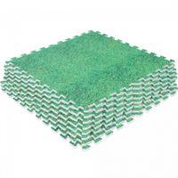 Schutzmattenset mit acht Teilen Grasoptik