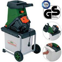 Gardebruk Messerhäcksler | 2500W | elektrisch | max. 40 mm Aststärke | 50L Auffangbox | Gartenhäcksler Häcksler Schredder
