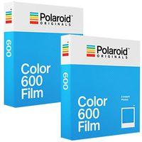 Sofortbildfilm Polaroid Color 600 von PHOTO PORST für Polaroid 600™, Polaroid Impulse, Polaroid SLR 680, Polaroid i-Type, Impossible i-Type, Impossible Instant Lab, 2 Packungen mit je 8 Bildern