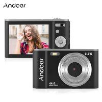 Andoer Mini-Digitalkamera 44MP 2,7K 2,88-Zoll-IPS-Bildschirm 16-fach Zoom-Selbstausloeser 128 GB Gesichtserkennung