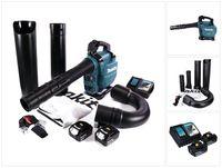 Makita DUB 363 RG2V Akku Gebläse / Laubsauger 36 V ( 2x 18 V ) Brushless + Absaug Set + 2x Akku 6,0 Ah + Ladegerät