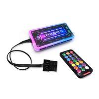 Bemerkung Fernbedienung Bord um die Batterie (B) RGB Gehäuselüfter Lüfter leise Lüfter bunte Farbe Aurora Eclipse Licht 12cm Desktop zu entfernen