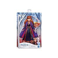 Disney Eiskönigin Singende Anna Puppe mit Musik in lila Kleid