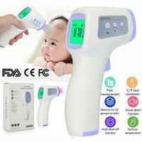 Infrarot Thermometer genaue digitale berührungslose fieberthermometer stirn termometer für Erwachsene und Säuglinge Babys LED hohe Helligkeit