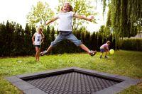 """Eurotramp Kids-Bodentrampolin """"Playground"""", Sprungtuch eckig, Ohne Zusatzbeschichtung"""