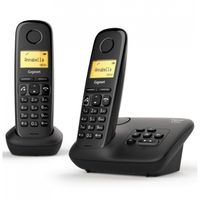 Gigaset Schnurloses A 270 A Duo Telefon 3,81 cm Beleuchtetes Display schwarz