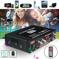 Kabelloser Bluetooth Stereo Verstärker, 180W, 2 Kanal Audio Receiver mit TF-Karte, AUX, USB, MP3 Format Play, FM-Radio für Heimkino-Entertainment-Lautsprecher mit Fernbedienung