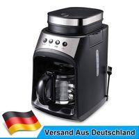 600W Elektrisch auto Kaffeemaschine Grind, Brew Kaffee Mahlwerk mit Tropf-Stopp,Glaskanne
