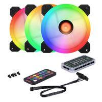 5 Lüfter Computer Geh?uselüfter 120mm RGB Bunter PC CPU Lüfter Kühler Silent High Airflow mit RGB Controller