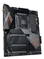 Gigabyte Z590 AORUS MASTER Prozessorfamilie Intel, Prozessorsockel LGA1200, DDR4 DIMM, Speichersteckplätze 4, Anzahl SATA Anschlüsse 6 x SATA 6Gb/s Anschlüsse, Chipsatz Intel Z, ATX