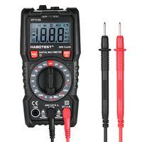 HABOTEST Digital Multimeter 2000 Zaehlt beruehrungsloses Multimeter Voltmeter Amperemeter Ohmmeter Messung der AC / DC-Spannung Stromwiderstand Durchgangspruefung Diode NCV-Tester mit Hintergrundbeleuchtung, LCD und Taschenlampe