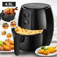 Heißluftfritteuse, Fritteuse, AirFryer, Multifunktion 4,5L Smart Backen Ölfrei Hervorragend für Zubereitungen mit wenig Fett