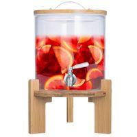 5L Luxus Getränkespender mit Zapfhahn aus Glas - XXL Wasserspender & Ständer